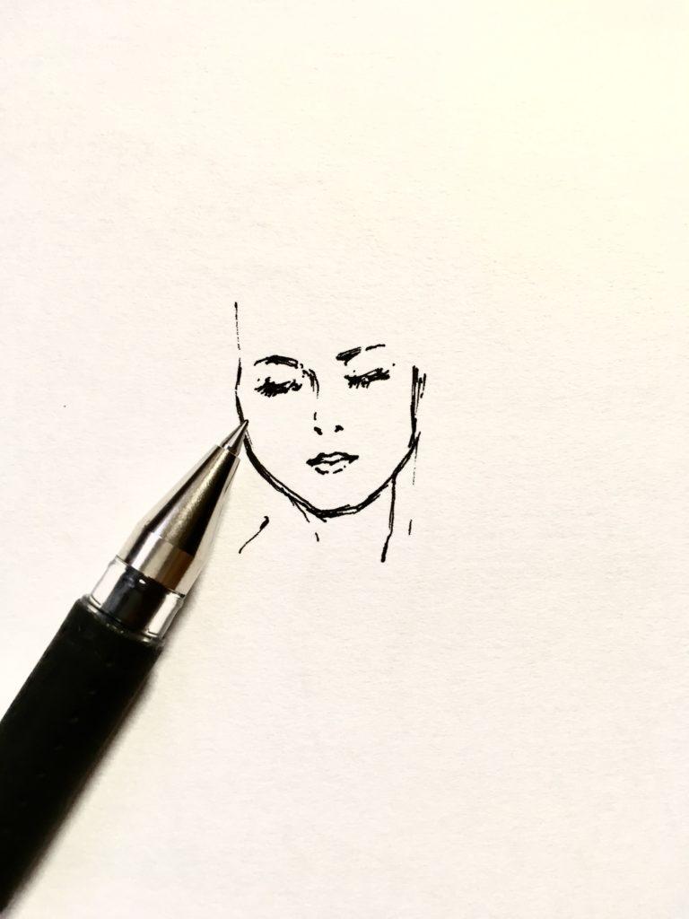ボールペンで模写してみる