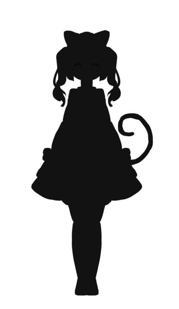 ネコキャラのシルエット