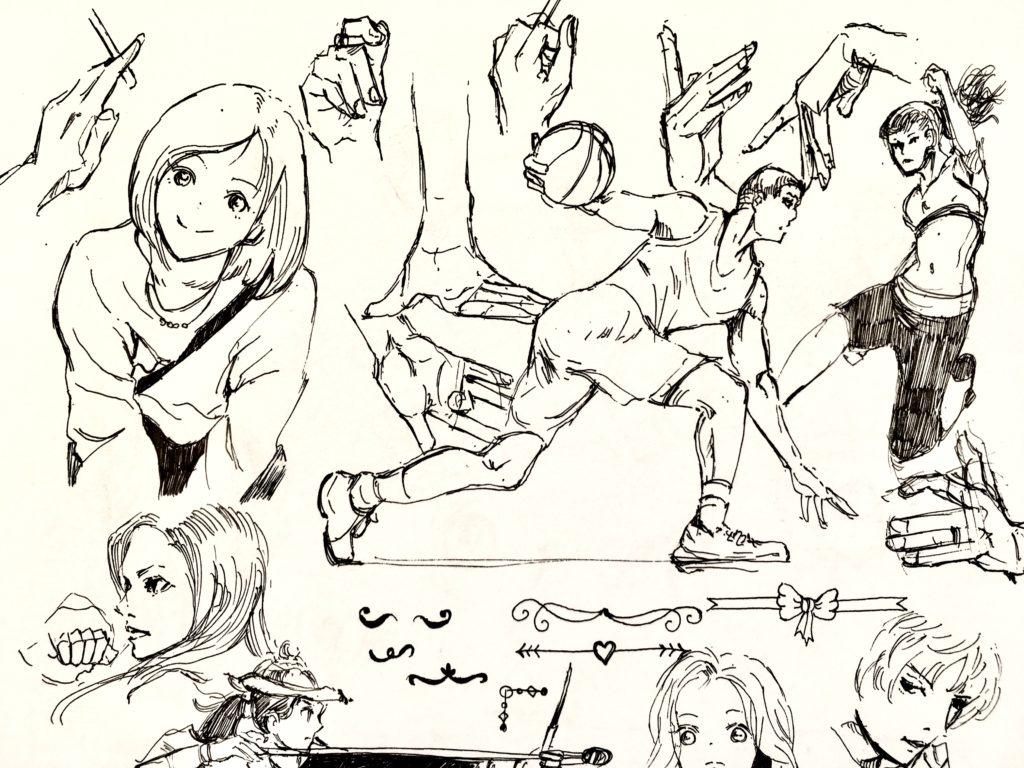 ボールペン模写