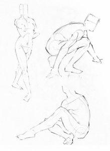 人体構造模写